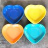 cute new product alert we now carry fiesta heart shaped dog bowls fiestaware dogbowls hearts heart petproducts california collar co @californiacollarco on instagram