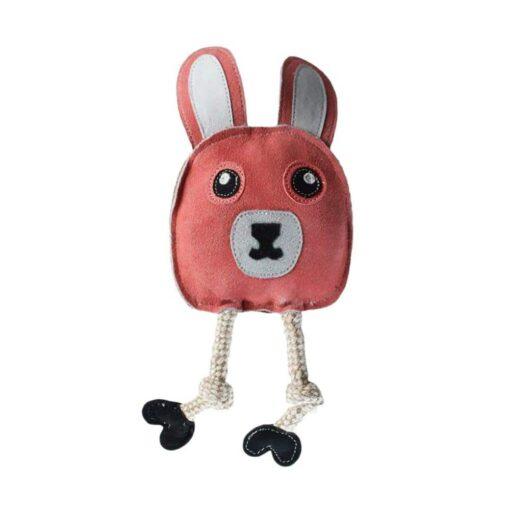 aussie natural 真皮兔子繩結玩具 1