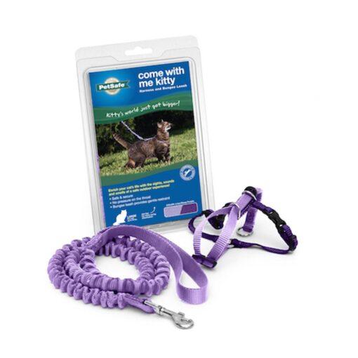 come with me kitty™ harness bungee leash 貓咪胸背彈力牽繩組 1