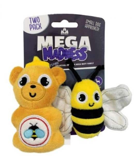 mega madness 蜜蜂啾啾絨毛玩具 2入組 1