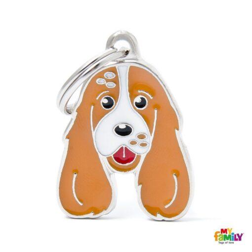 my family 名牌 x 客製化 棕白可卡犬 1