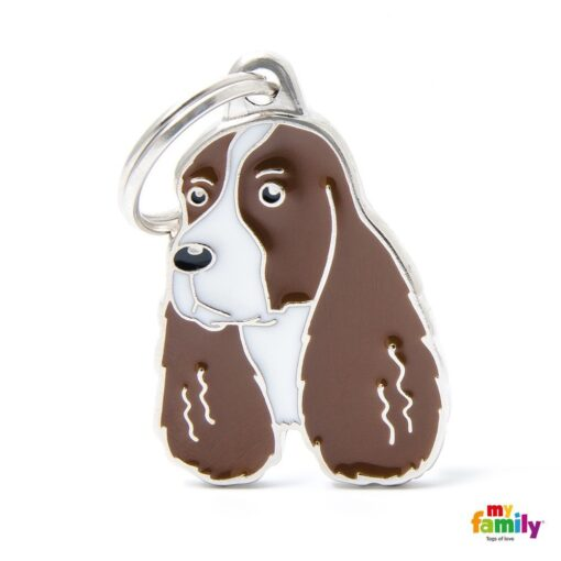 my family 名牌 x 客製化 棕白史賓格犬 1