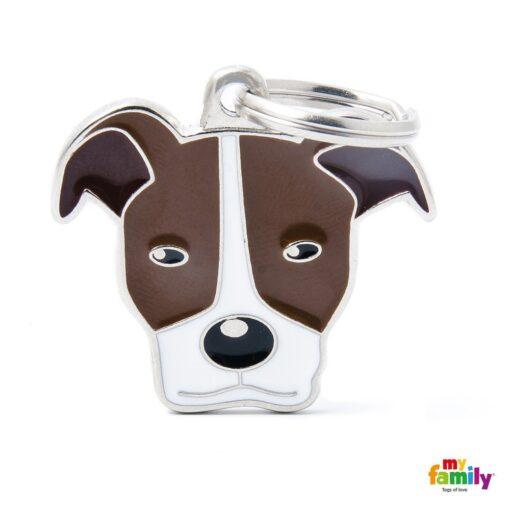 my family 名牌 x 客製化 棕白比特犬 1