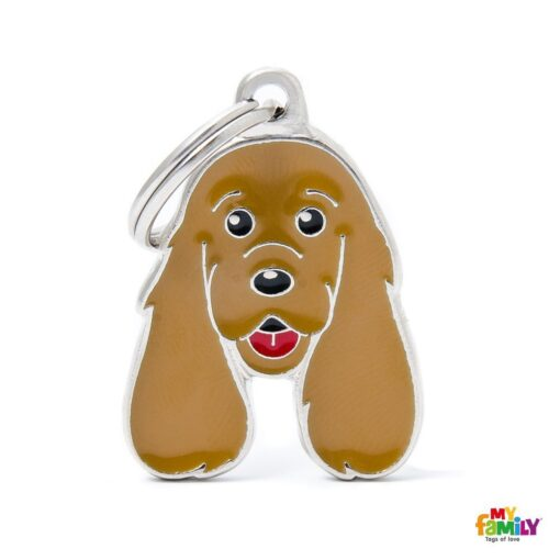 my family 名牌 x 客製化 棕色可卡犬 1