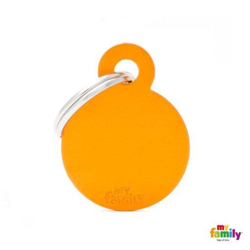 my family 名牌 x 客製化 橘色小圓 1