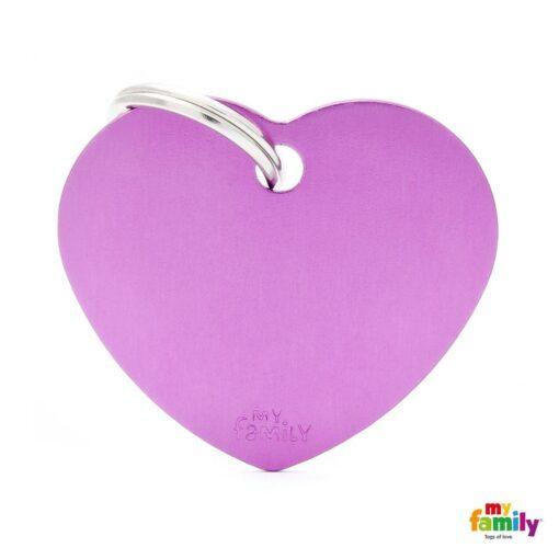 my family 名牌 x 客製化 紫色大心 1