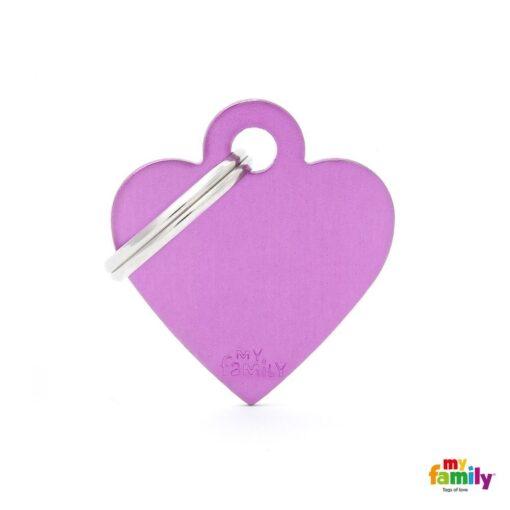 my family 名牌 x 客製化 紫色小心 1