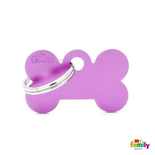 my family 名牌 x 客製化 紫色小骨 1