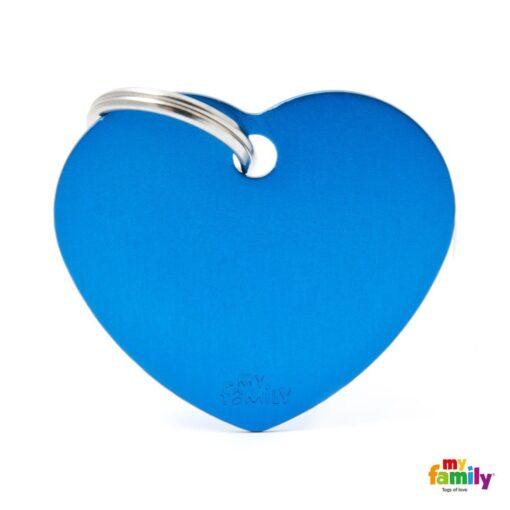 my family 名牌 x 客製化 藍色大心 1