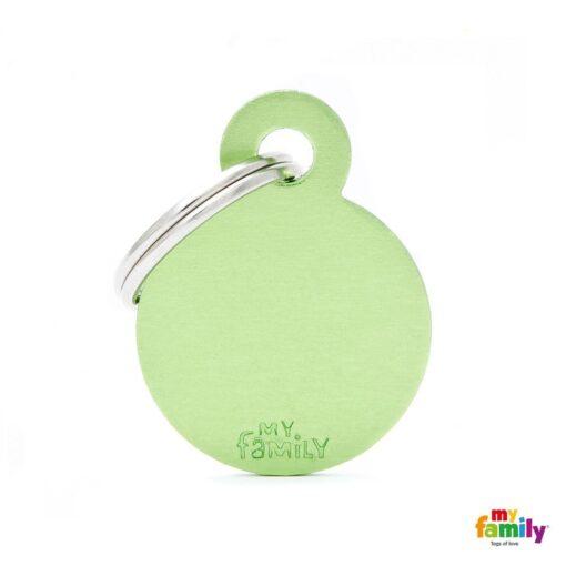 my family 名牌 x 客製化 蘋果綠小圓 1