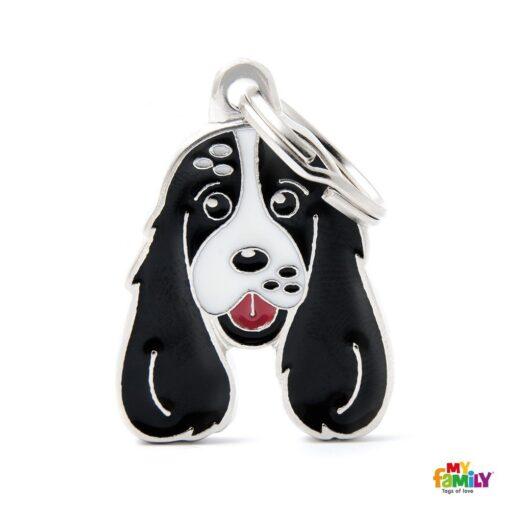 my family 名牌 x 客製化 黑白可卡犬 1