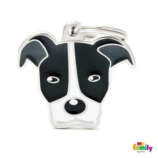 my family 名牌 x 客製化 黑白比特犬 1