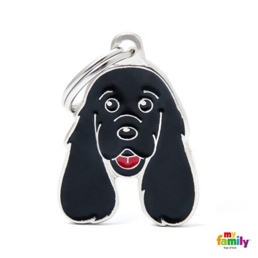 my family 名牌 x 客製化 黑色可卡犬 1