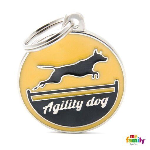 my family 名牌 x 客製化 agility dog 敏捷犬黃 1