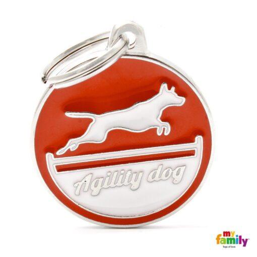 my family 名牌 x 客製化 agility dog red 敏捷犬紅 1