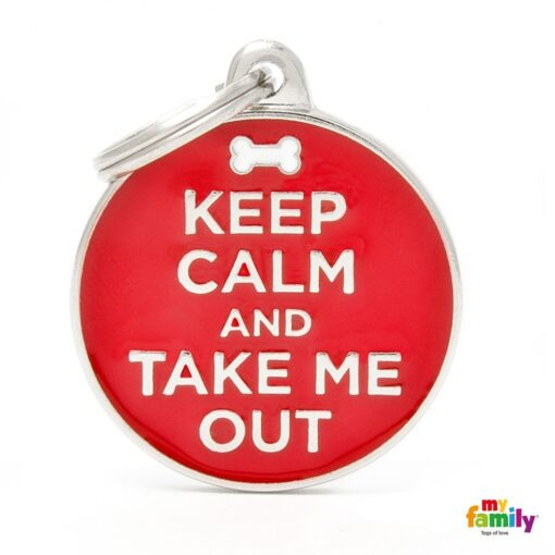 my family 名牌 x 客製化 keep calm and take me out 1
